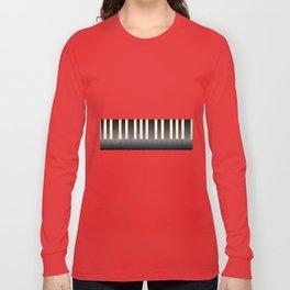 White And Black Piano Keys Long Sleeve T-shirt