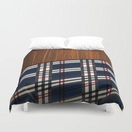Wooden Scottish Tartan Duvet Cover