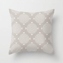 Foam Latte Rosette Lace Throw Pillow