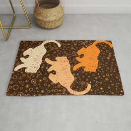 Tigers in a meadow  Rug