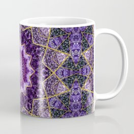 Amethyst and Gold Kaleidoscope  Mandala Coffee Mug