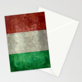 Italian flag, vintage retro style Stationery Cards