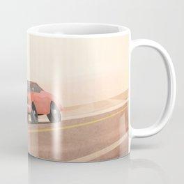 Fast muscle car, speeding through the desert Coffee Mug