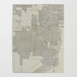 Vintage Map of Miami Florida (1918) Poster