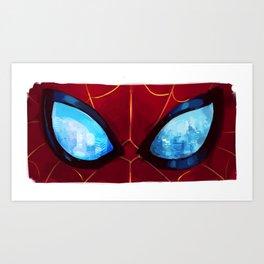 spiderverse eyes: 2/6 Art Print