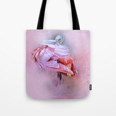 Spoonbill Fandance Tote Bag