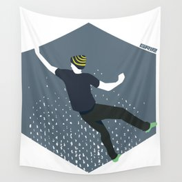 bouldering man Wall Tapestry