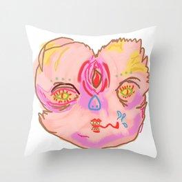 creepah face Throw Pillow