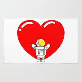Astro Heart | Love is All Around | Astronaut Hug Love | pulps of Rug
