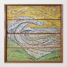 Waves on Grain Canvas Print