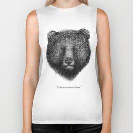 """TypoAnimal - """"To Bear or not to Bear."""" Biker Tank"""