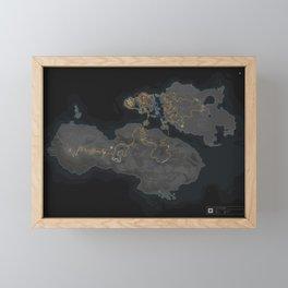 Wattopia Map 2020 Framed Mini Art Print