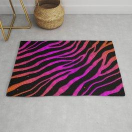 Ripped SpaceTime Stripes - Orange/Pink Rug