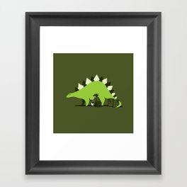 Crude oil comes from dinosaurs Framed Art Print