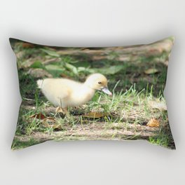 Baby Duckling strolling on a lawn Rectangular Pillow