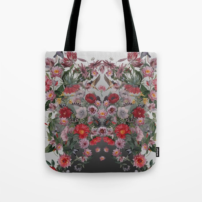 Flowers and Animals Tote Bag