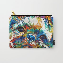 Colorful Shih Tzu Dog Art By Sharon Cummings Carry-All Pouch