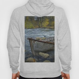 Canoe on the Thornapple River in Autumn Hoody
