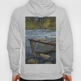 Canoe on the Thornapple River in Autumn Hoody