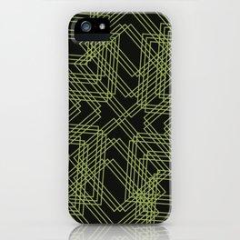 Green Circle Black iPhone Case