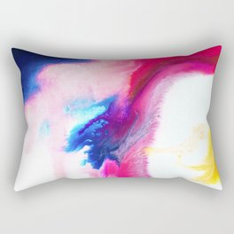 Happiness Talks Abstract Watercolor Painting Rectangular Pillow