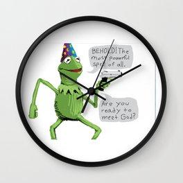 yer a wizard kermit Wall Clock