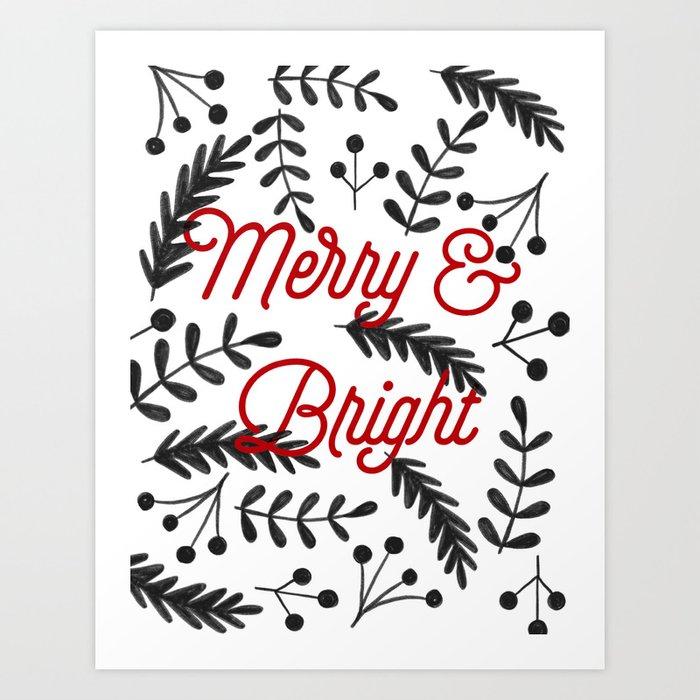 Merry & Bright Art Print