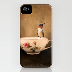 Tea Time With A Hummingbird 2 iPhone (4, 4s) Slim Case
