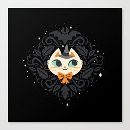 Witchy Kitty Canvas Print