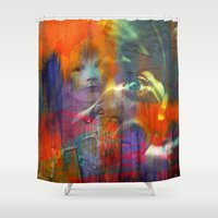 returns Shower Curtains featuring Fast mom returns by Ganech joe