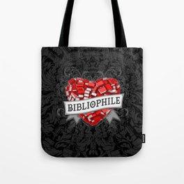 Bibliophile Heart Tote Bag