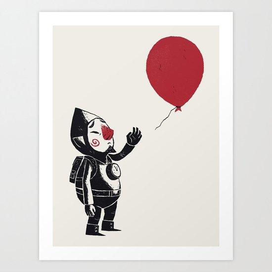 balloon fairy Art Print