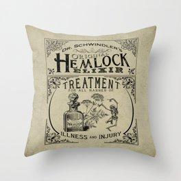 Dr. Schwindler's Original Hemlock Elixir Throw Pillow