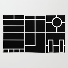 PS Grid Black Rug