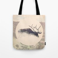 elk Tote Bags featuring Elk by hipepper