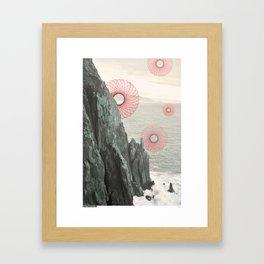 Spirograph Neahkahnie Headland Spires Framed Art Print