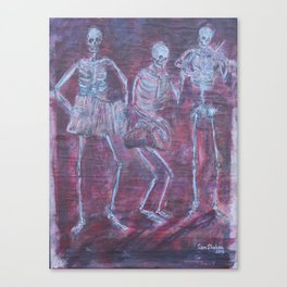 Dancing with the Dead Canvas Print