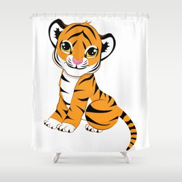 Little Tiger Cub Shower Curtain