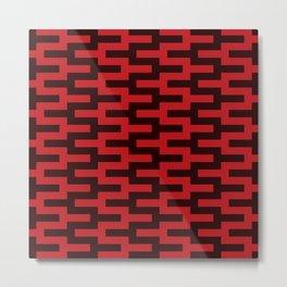 Geometric Pattern #88 (red zigzag) Metal Print