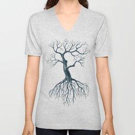 Tree without leaves Unisex V-Neck