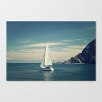 sailing Canvas Prints featuring Sailing by  Alexia Miles photography