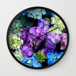 Colorful Flowering Bush Wall Clock