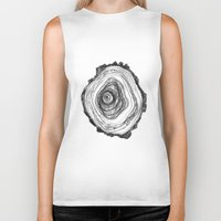 tree rings Biker Tanks featuring Tree Rings - Light by Emily Swedberg (Ito Inez)