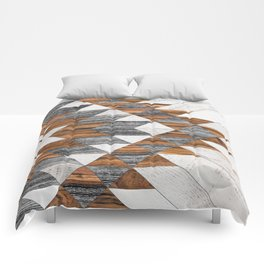 Urban Tribal Pattern 12 - Aztec - Wood Comforters