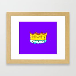 A Gold Crown with Ermine Fur Framed Art Print