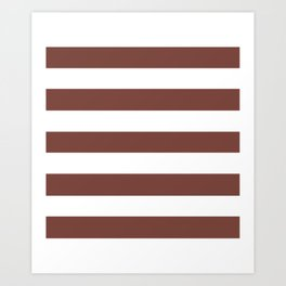 Bole - solid color - white stripes pattern Art Print