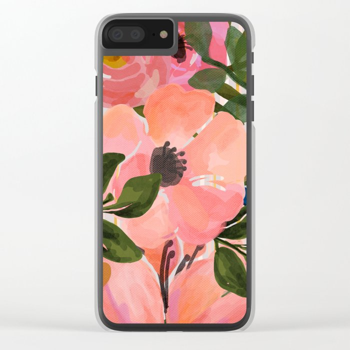 Watercolor flowers and plants 02 Clear iPhone Case