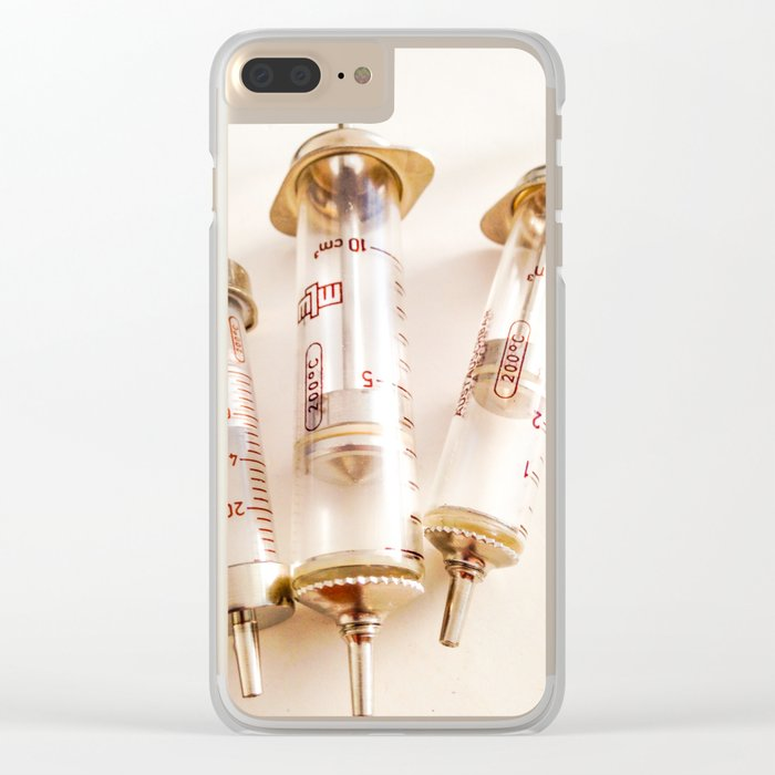 RETRO NEEDLES Clear iPhone Case