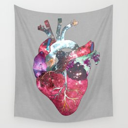 Superstar Heart (on grey) Wall Tapestry