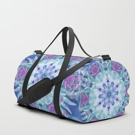 Royal Blue and Purple Mandala Duffle Bag
